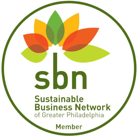 We are members of the Sustainable Business Network of Greater Philadelphia, and support other organizations that encourage sustainable practices, such as the Pennsylvania Environmental Council.