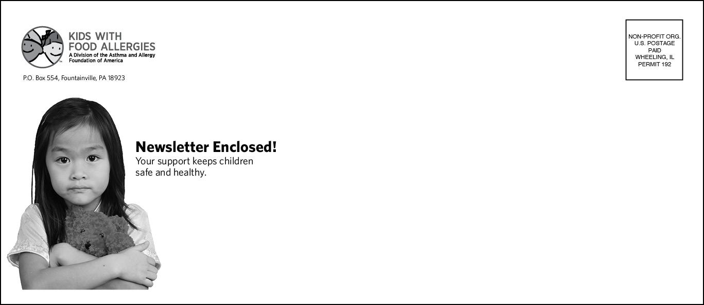 Envelope to enclose  Strides  newsletter.