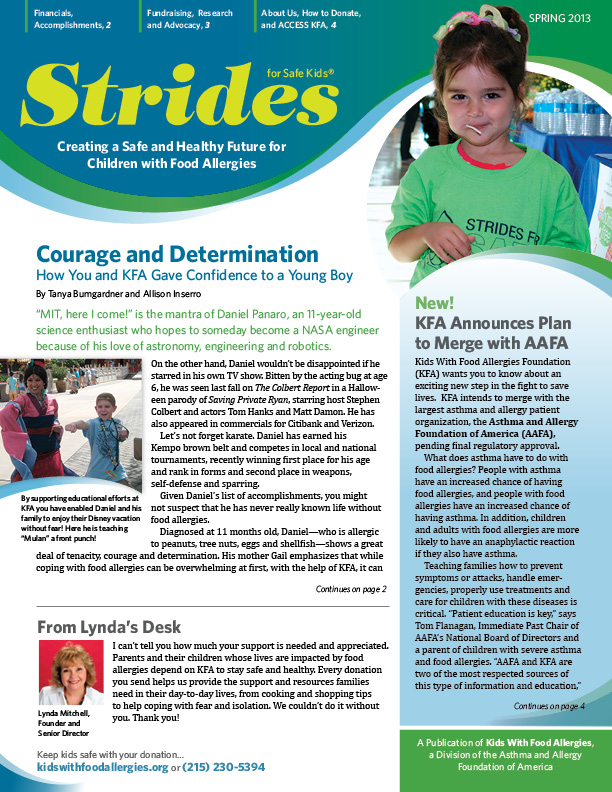 Strides  newsletter cover.