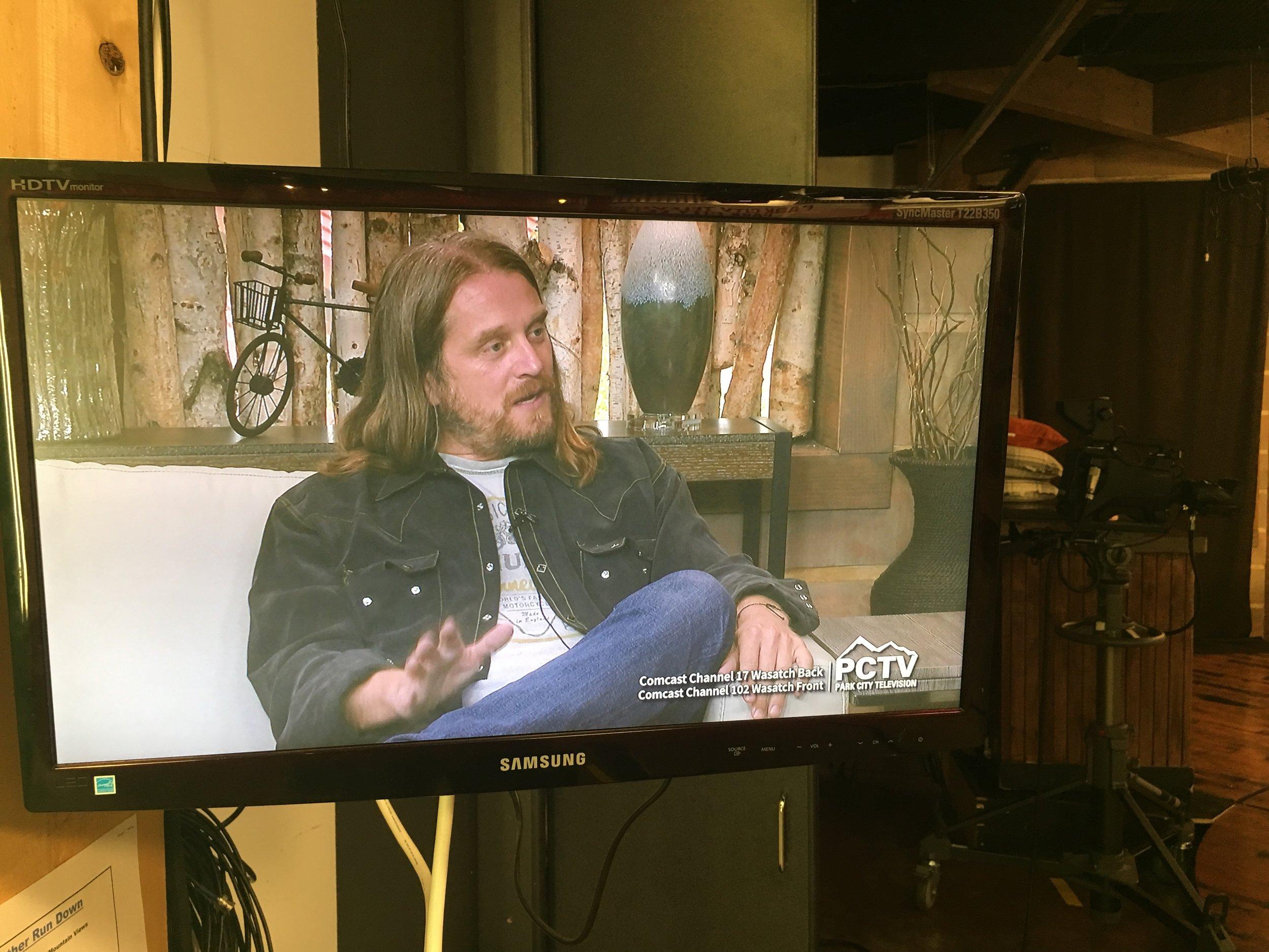 Rusty on TV.JPG