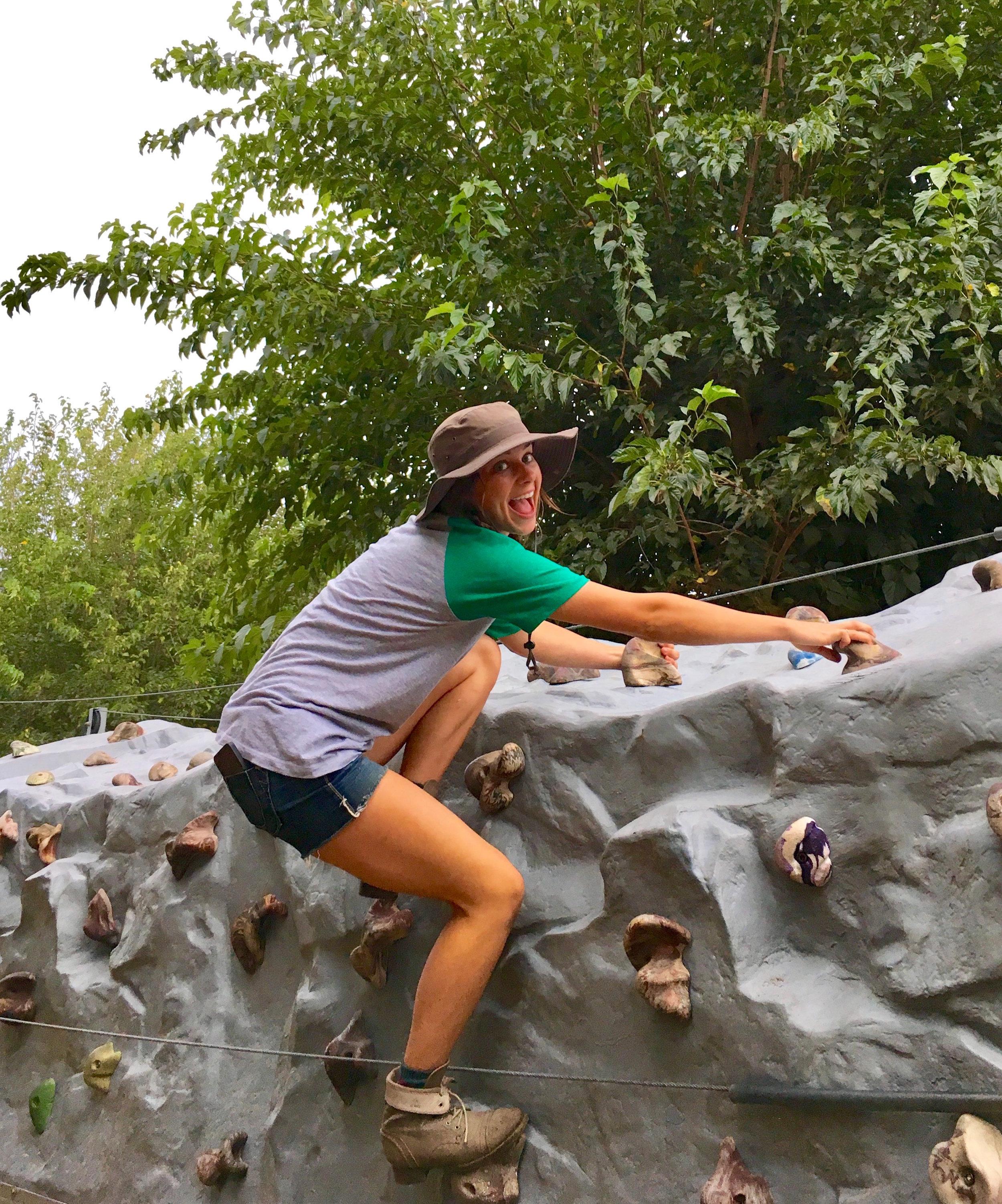 Rock Wall Employee Fun