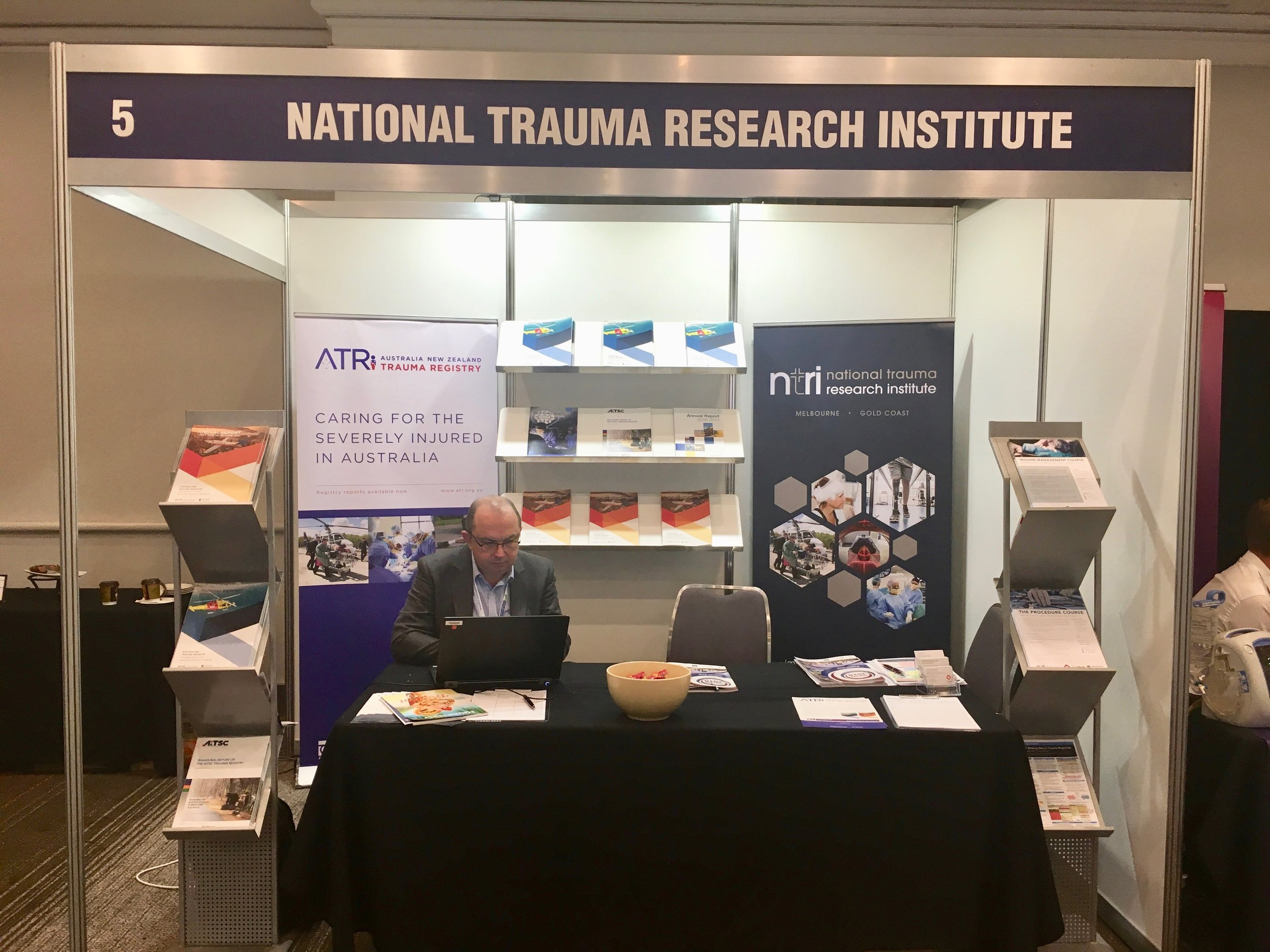 NTRI/ATR Booth with Mr Ben Gardiner - Trauma 2018