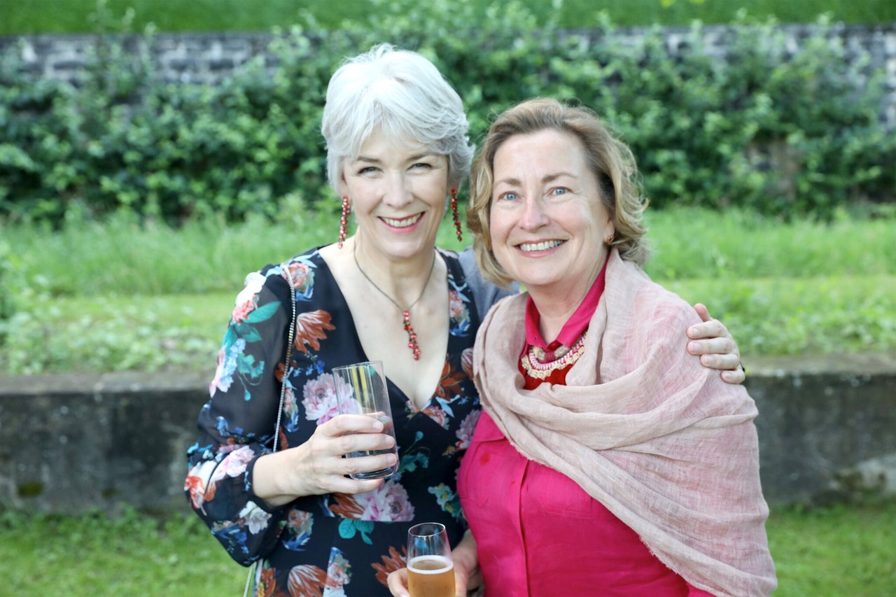 With Sian Morgan Hall, Four Winds Board Member and philanthropy co- partner.  Image: Unidentified