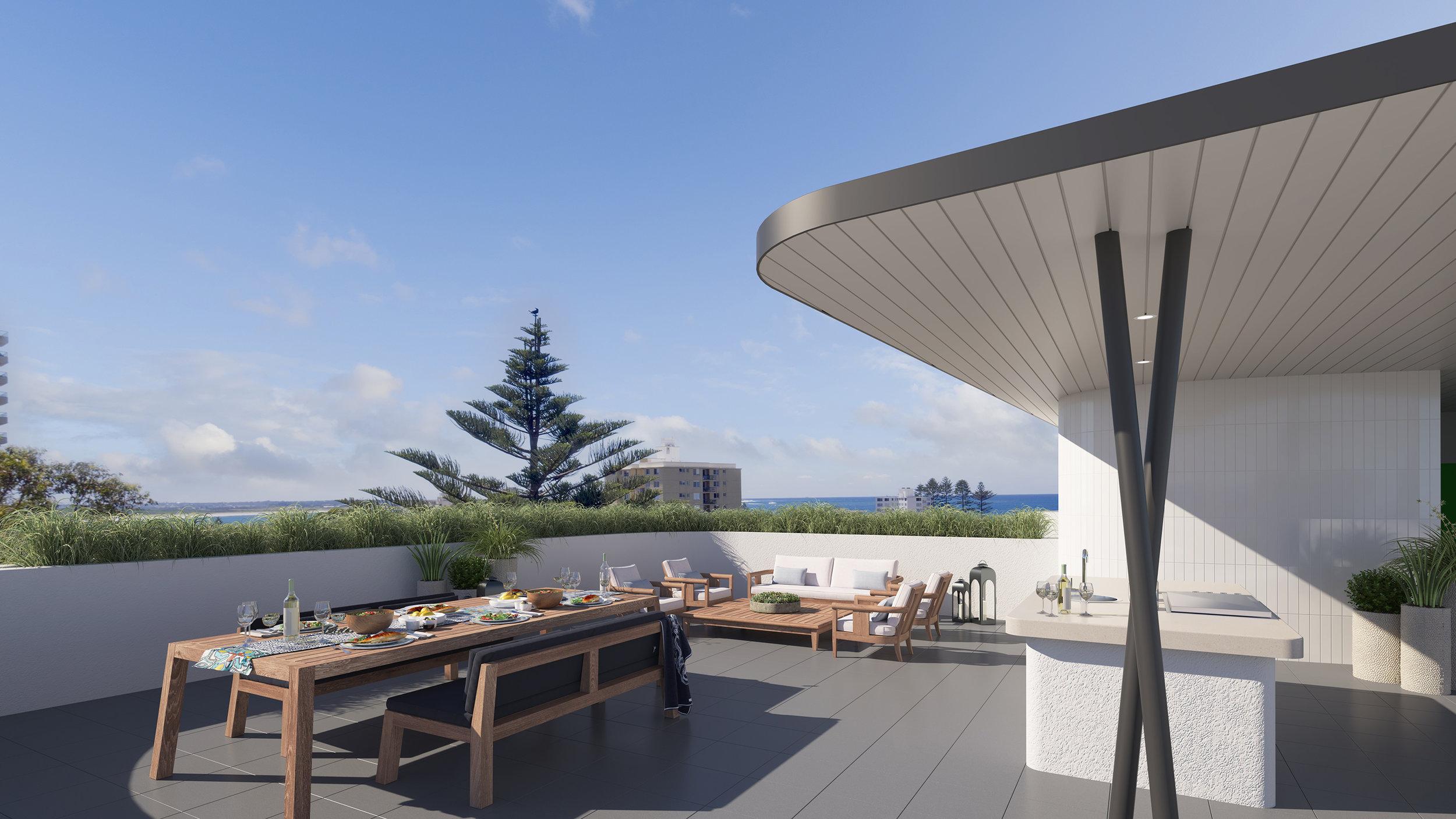 Communal Rooftop Terrace | Artist Impression