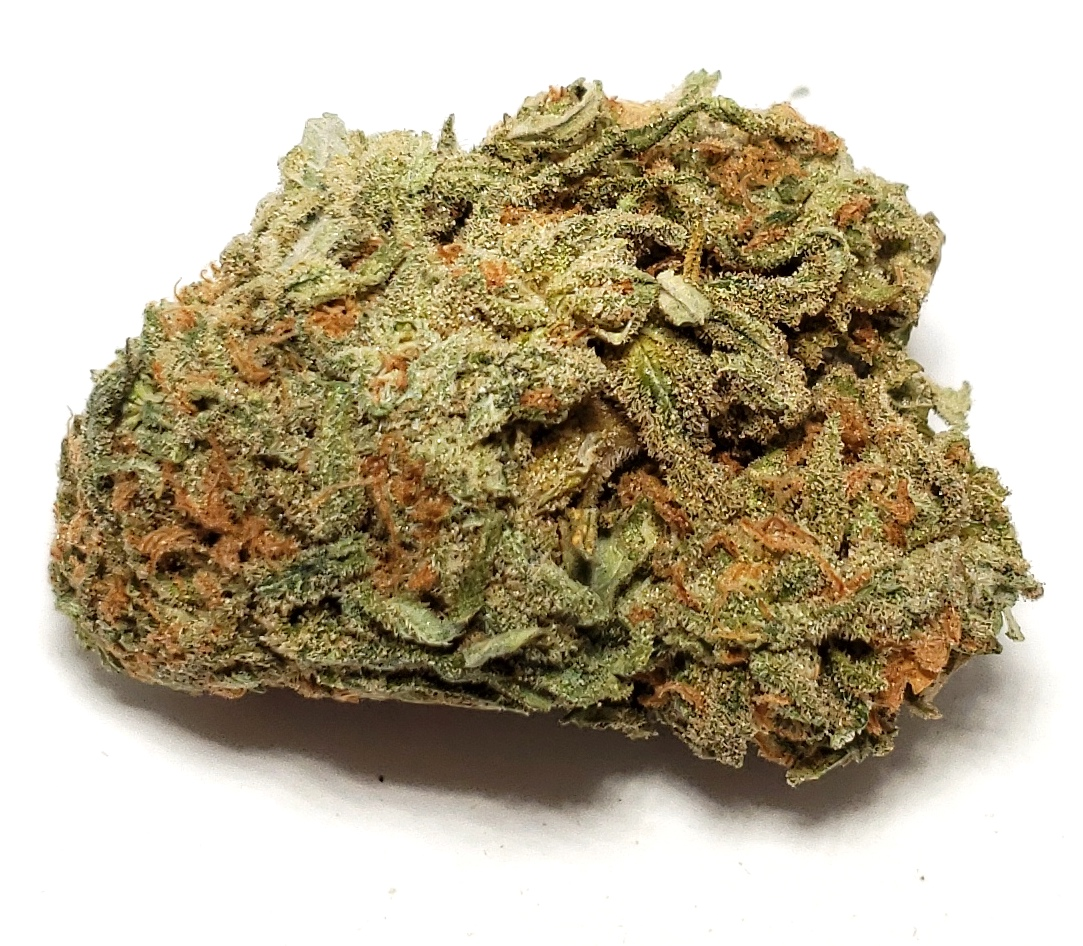 Nuken - Indica    1/4- $60 1/2-$110 OZ-$200   The mostly indica Nuken is a Canadian strain bred by combining genetics from Kish (a cross of two Shishkaberry parents) and God Bud. Her even-keeled effects are delivered alongside a sweet, earthy aroma of fresh herbs and grass. While undeniably strong, Nuken typically leaves you functional enough to still enjoy hobbies and the company of friends. Nuken blooms with rounded, dense buds covered in a blanket of crystal resin veiling its sage hues.