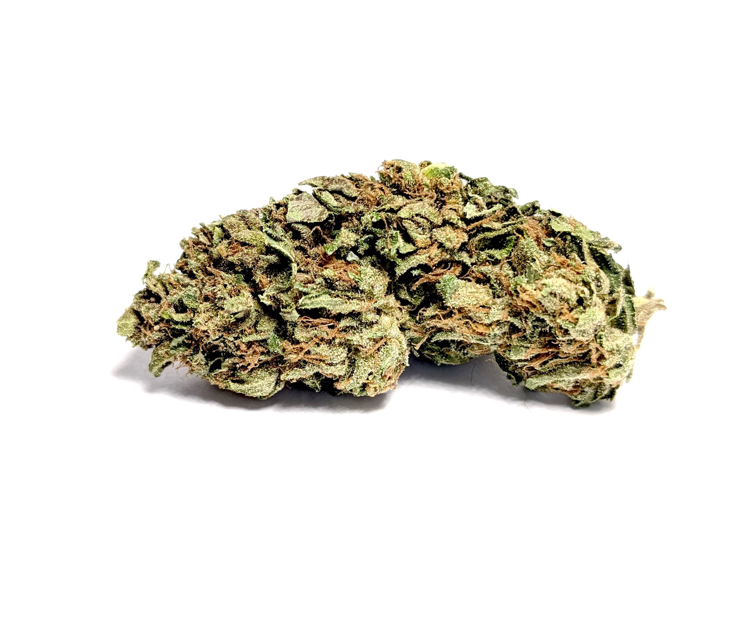 Pink Kush- Hybrid    1/4- $60 1/2-$100 OZ-$180   Pink Kush, as coveted as its OG Kush relative, is an indica-dominant hybrid with powerful body-focused effects. In its exceptional variations, pink hairs burst from bright green buds barely visible under a blanket of sugar-like trichomes, with traces of a sweet vanilla and candy perfume. Medical patients tend to gravitate toward Pink Kush for its overwhelming body effects that work to combat physical pain, migraines, and nausea. Used frequently to overcome stress, anxiety, and extreme nervousness, its a great way to calm yourself down and enjoy a carefree day. If used later in the evening, smoking a decent amount of this strain will lull you into a deep sleep.