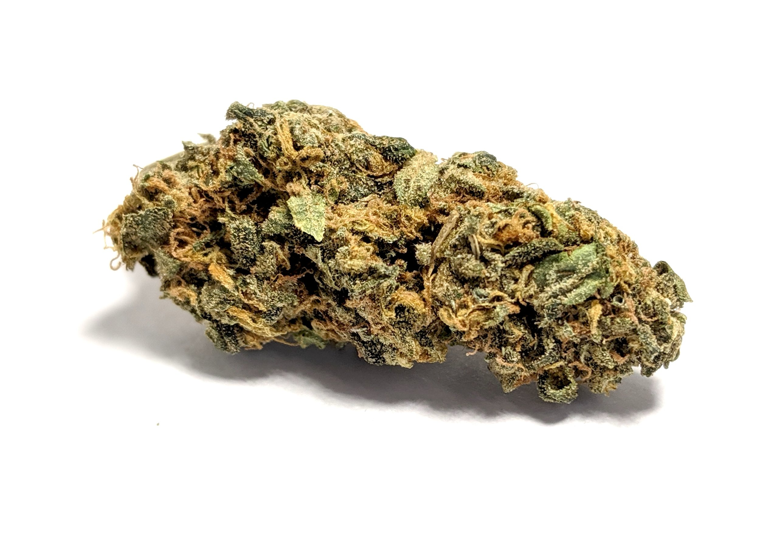 Ice Cream- Hybrid    1/4- $45 1/2-$75 OZ-$140   The high usually starts with the Sativa effects, generating uplifting moods with heady cerebral sensations. Users report feeling more creative. Adults diagnosed with ADD/ ADHD report feeling more focused. The Indica effects follow, often producing a numbing laziness, sedation and increased appetite. Negative effects include the usual dry eyes and mouth. Some anxiety, dizziness, and paranoia may also occur (especially with higher doses). Patients choose Ice Cream primarily for the treatment of stress. The strain allows patients with anxiety and depression-related disorders to relax. Ice Cream's Indica-based effects are also helpful to those seeking relief from mild aches and pains. Patients dealing with anorexia and other eating disorders may find Ice Cream useful in inducing appetite.