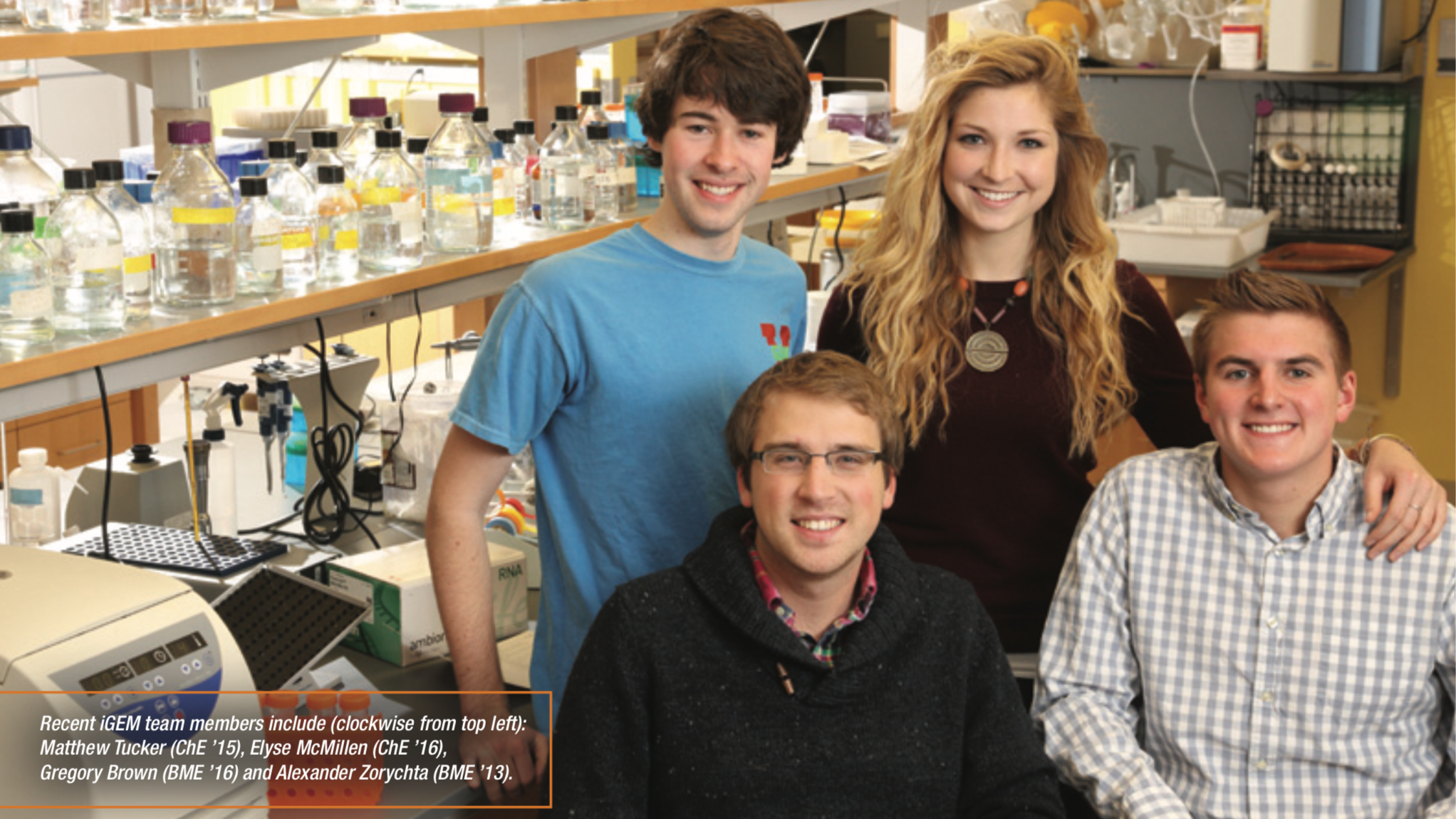 At the Frontier of Synthetic Biology - A feature on the incredible student-led iGEM synthetic biology research team which is the foundation for many student entrepreneurship projects. I led the revamping of the recruitment process and reformed the seminar in synthetic biology to increase team cohesion. Read Article >