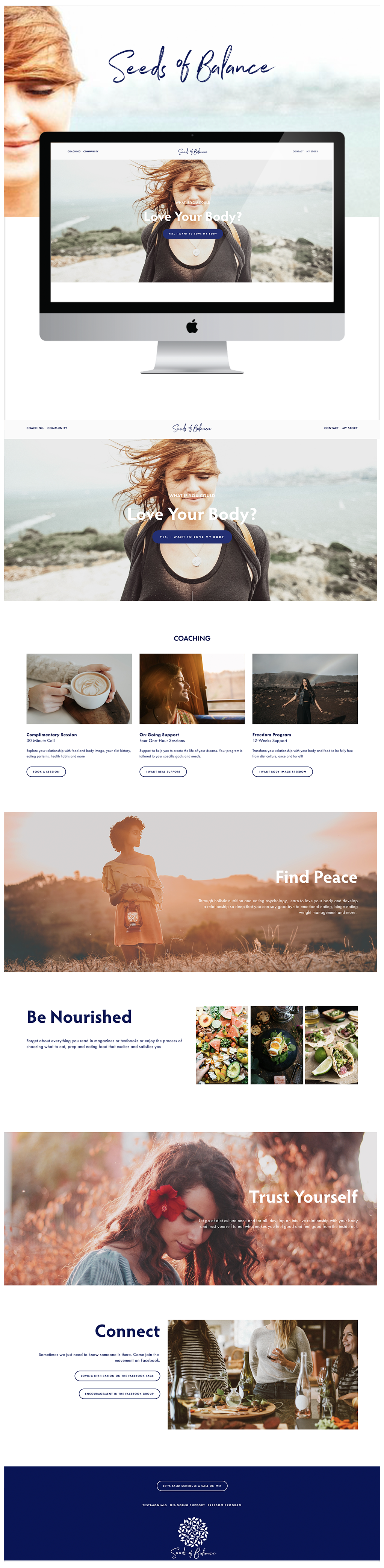 A modern gorgeous website on Squarespace for Seeds of Balance #modern #gorgeous #squarespace