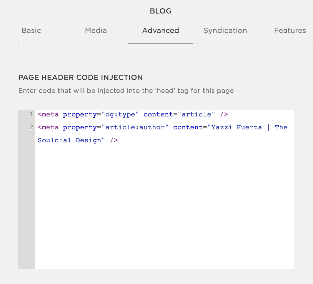 Scroll down to Page Header Injection
