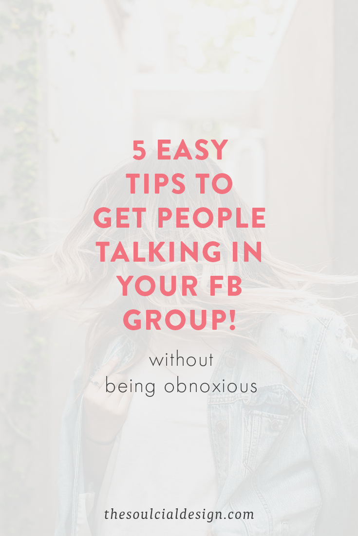 Is your Facebook Group Dead!? You need these 5 tips to get your Facebook Group alive and talking! #FacebookGroup #FacebookGrowth #FacebookTips