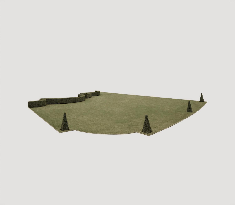 Juergen Bergbauer, Jardin a la française, untitled (parterre de gazon I)