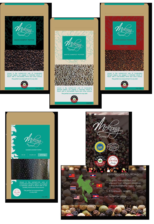 Mekong Pepper Labels