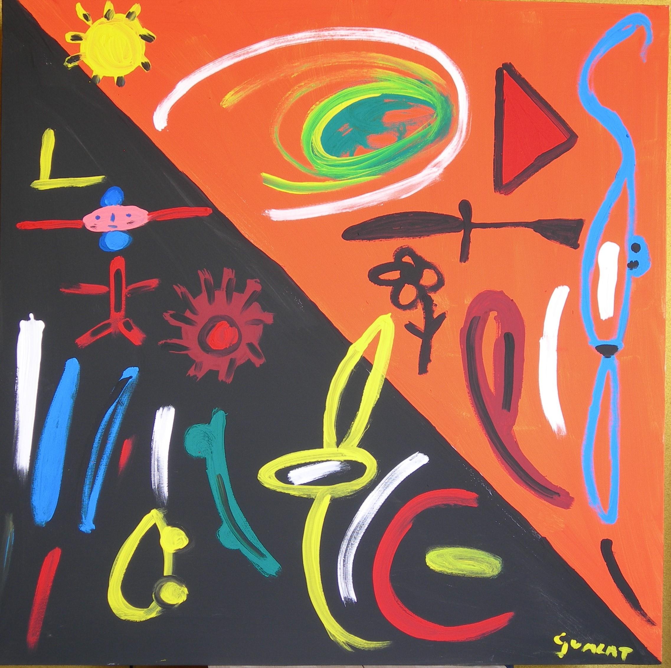 Allegoria - Acrilico su tela - 100 x 100 cm, 2009