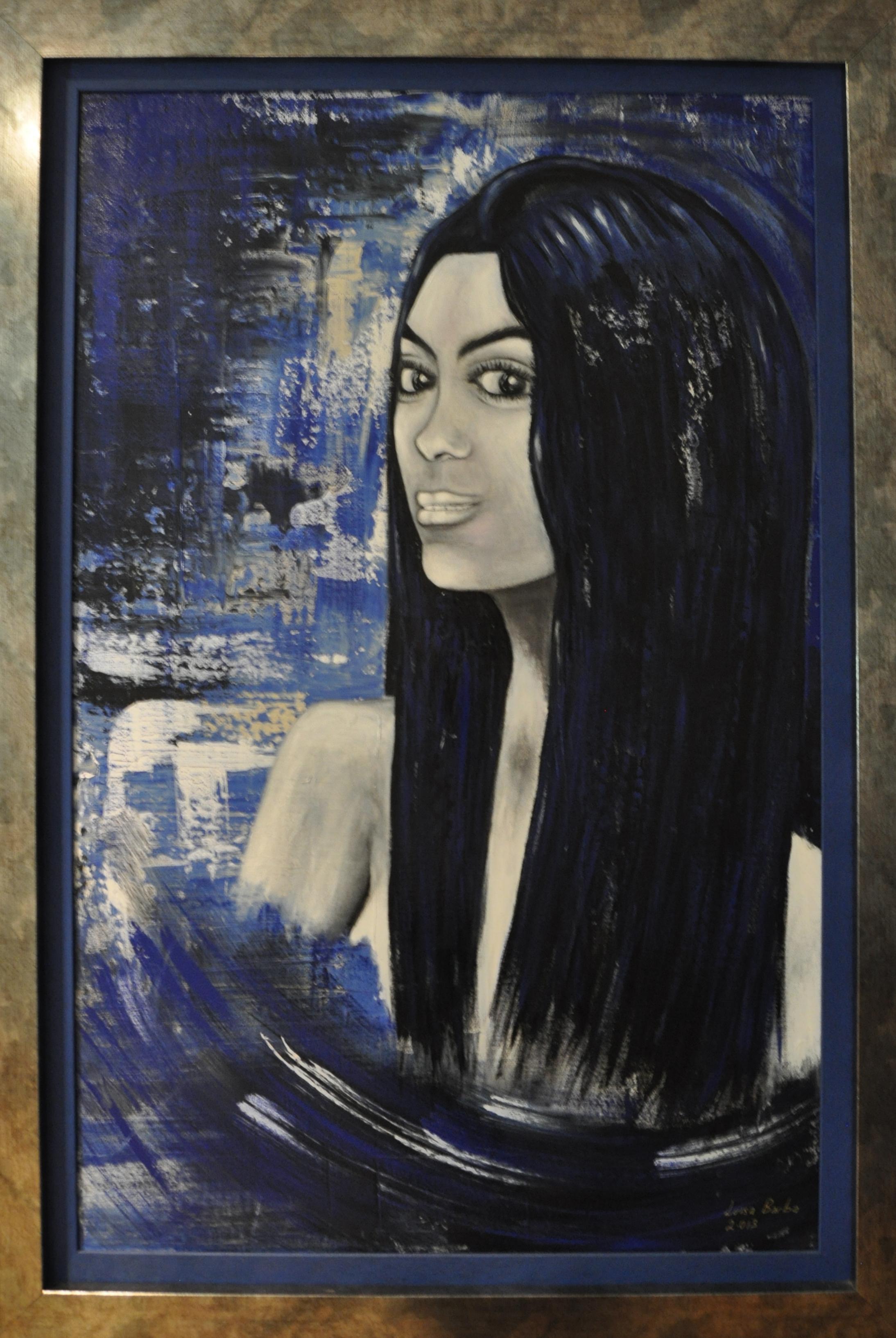 """""""Mireia"""" 2.018. Acrilyc on canvas. Size without frame: 81 x 116cm"""