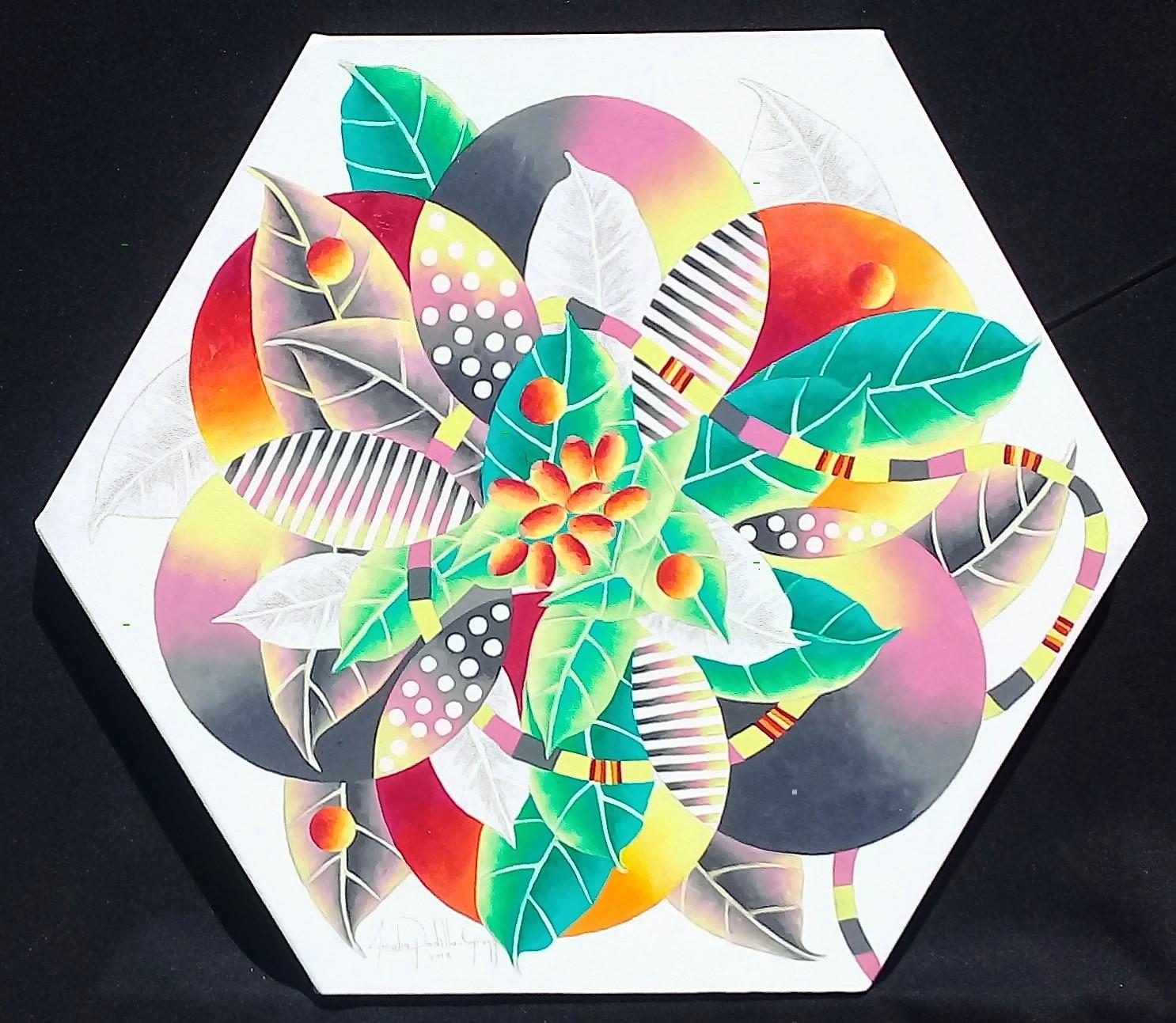 Reborn, 53cm x 61 cm, oil and pencil on canvas