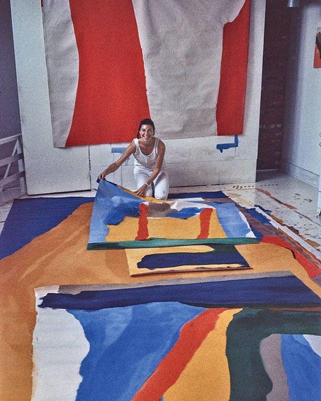 | Helen Frankenthaler in her studio |