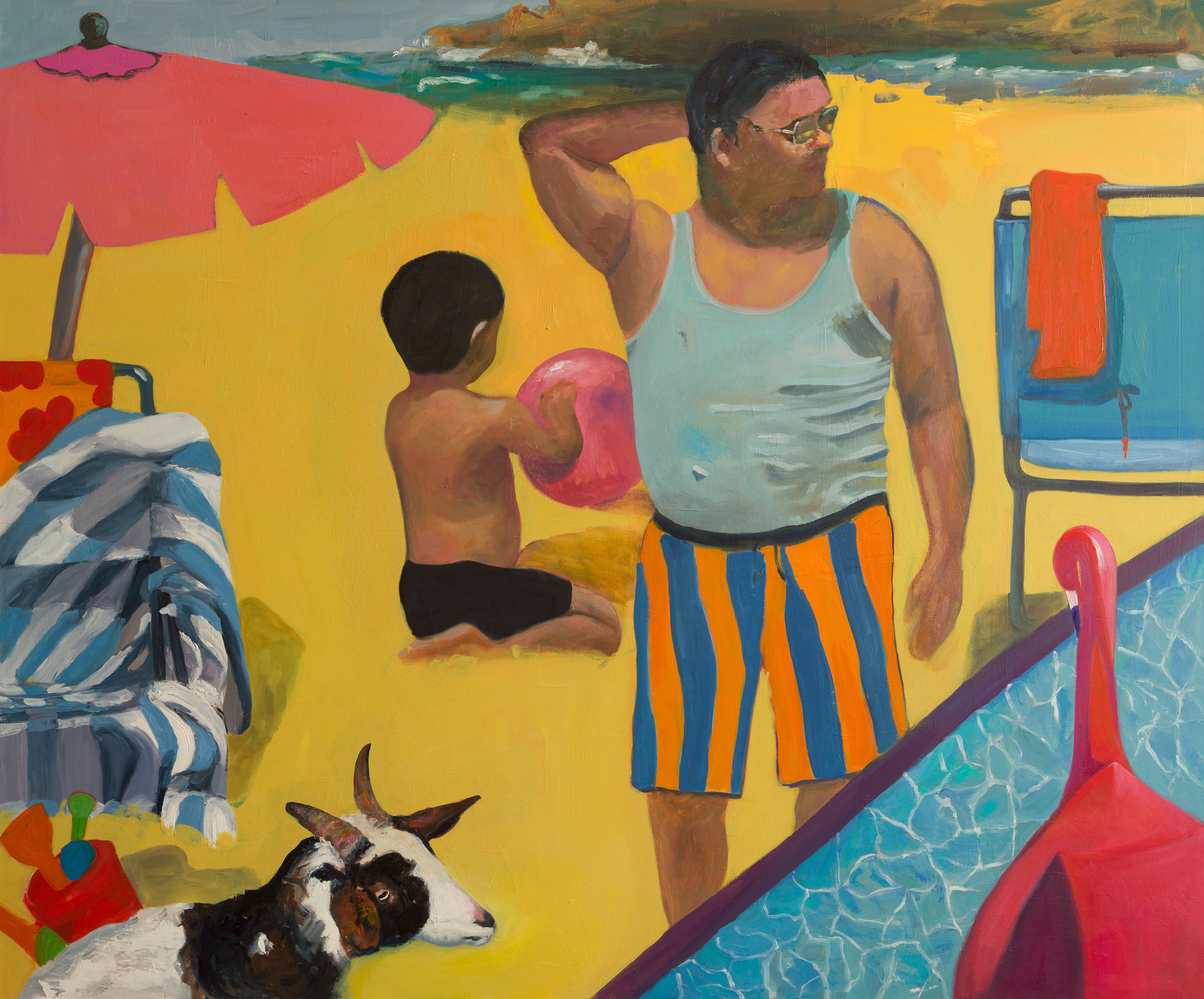 The Bathers 2, Oil on Canvas, 60x72 inches, 2018