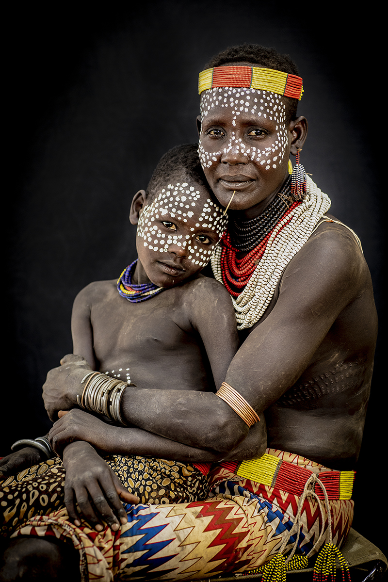 Karo Mother and Son in Ethiopia