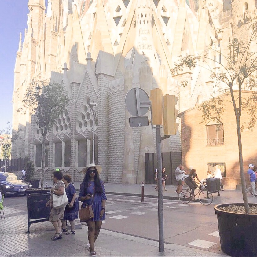 Sagrada Familia - can be seen almost anywhere in Barcelona