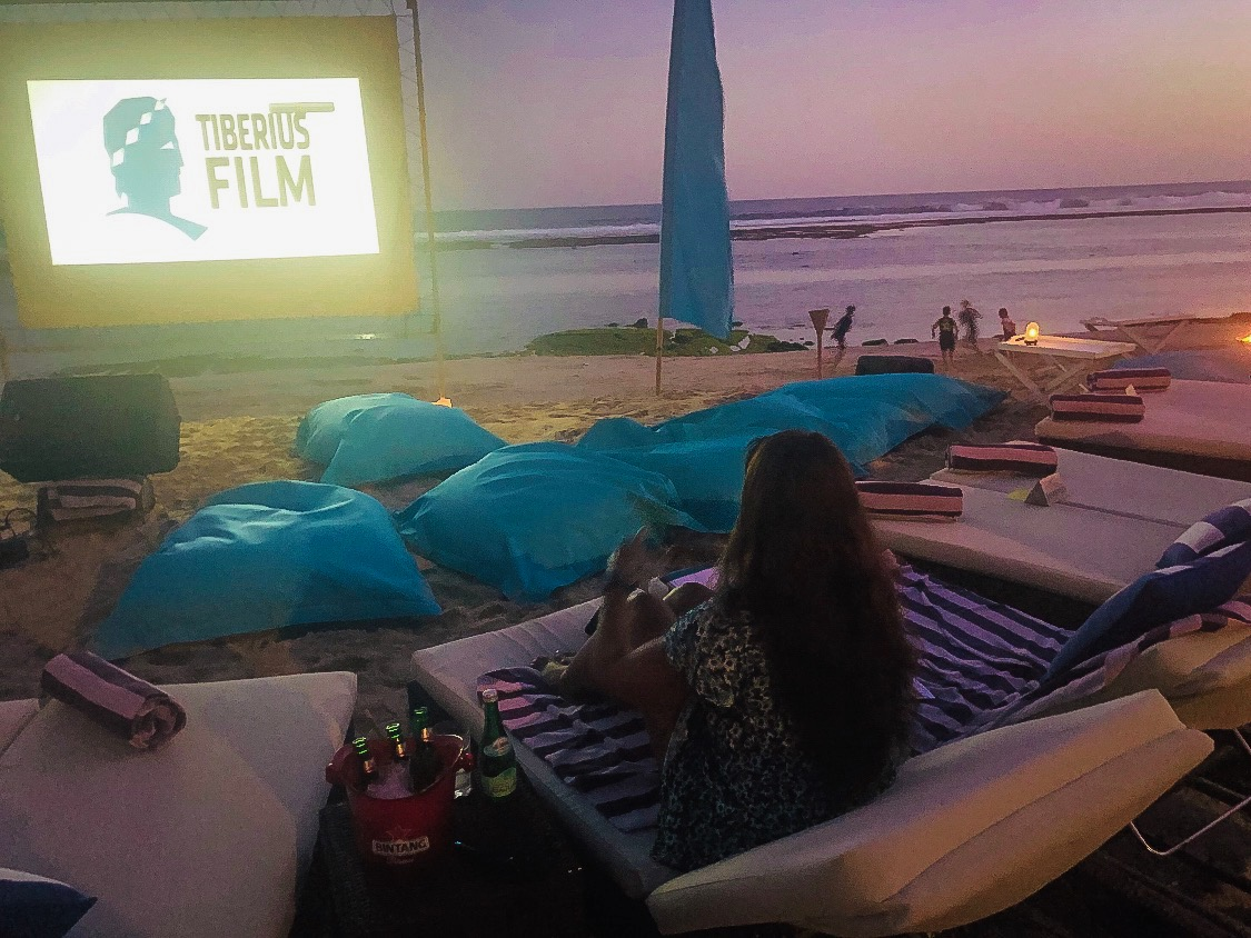 Movie night by the beach