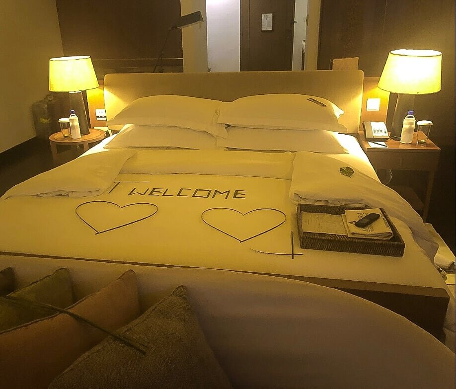 The bed on arrival