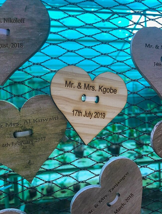 There is a love wall for Honeymooners, I couldn't resist even though it was not our honeymoon.  Mo made this happen and I'm so grateful.