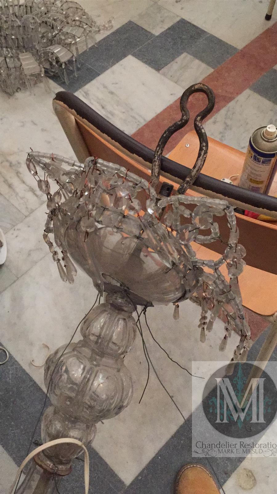Chandeliers pre-restoration