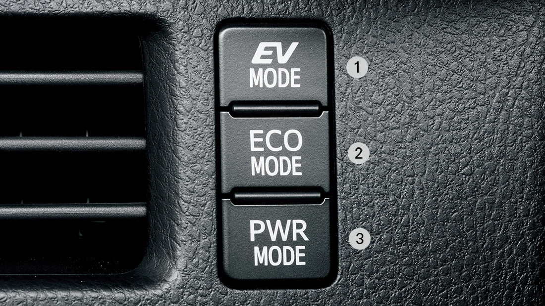 EV, ECO and Power Driving Toyota Noah