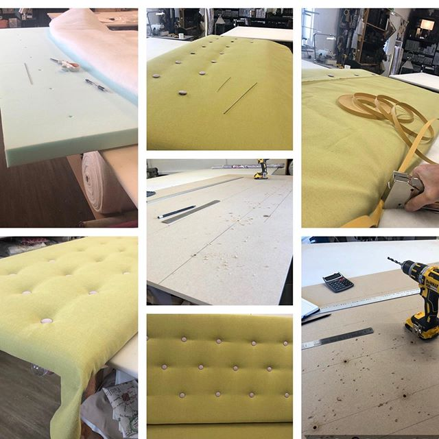 Buttons buttons buttons! Love this headboard. #bespoke #upholstery
