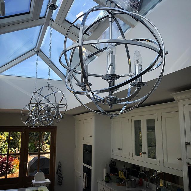Happy clients! These lights are just perfect for their kitchen #franklite #lighting #design