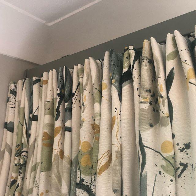 Euro pleat curtains a slight twist on the traditional pinch headings. Villa nova fabric. JSC track. #villanova #curtains #designdeinterior