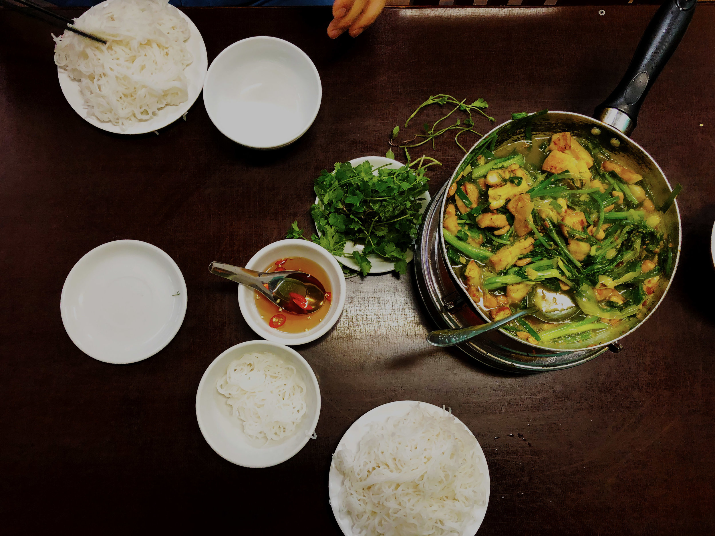 Our meal at the  real  Cha Ca La Vong