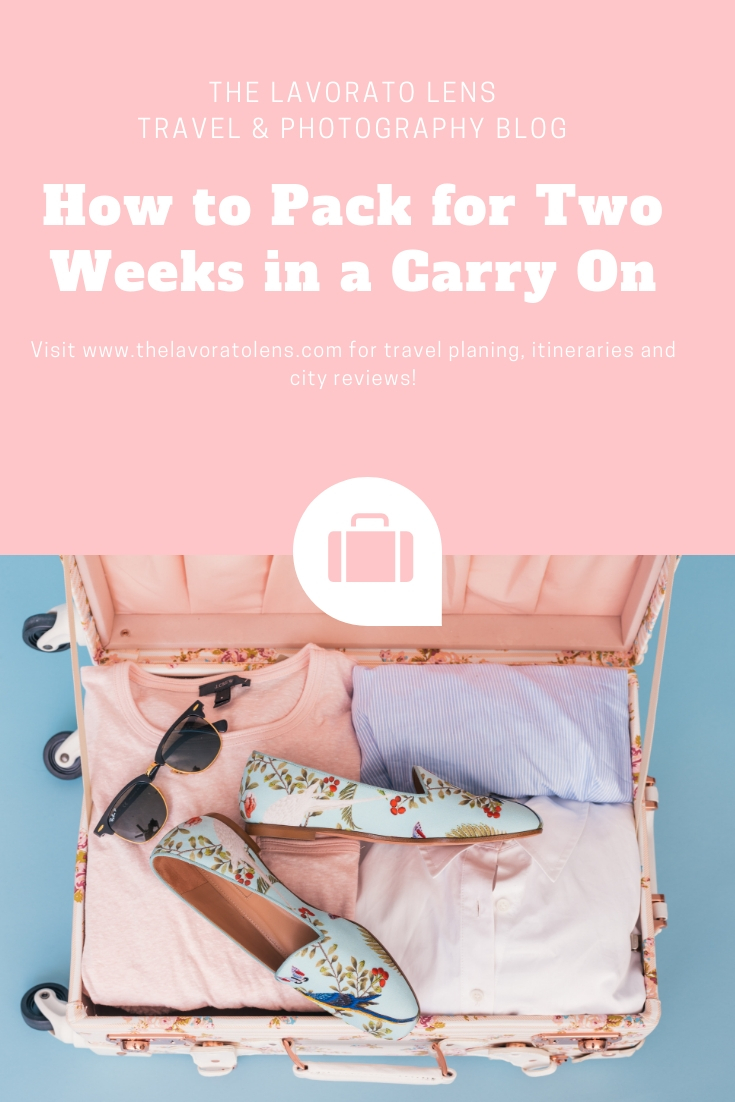 How to Pack for Two Weeks in a Carry On | The Lavorato Lens