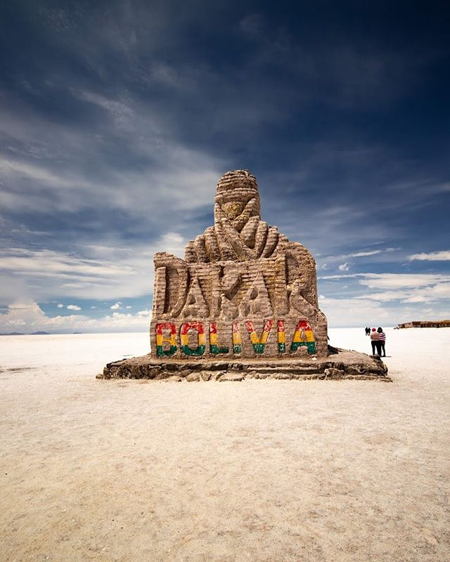 This Dakar Monument was built in 2014 and has become a symbol of the Bolivian Salt Flats. While we asked what it represents, we didn't get much of an answer, so if you know, let me know! We're so curious! . . . . . . . . . . #touruyuni #saltflatsbolivia #uyunisaltpic #salardeuyunibolivia #uyunibolivia #travelbolivia #salaruyuni #boliviatravel #igersBolivia #explorebolivia #visitbolivia #mytravelpics #uyunisaltflats #experiencebolivia #saltflats #salardeuyuni #uyuni #visitsouthamerica #beautifuldestinations #bolivia #southamerica #globetrotter #travelpics #traveladdict #travelblogger #travelling