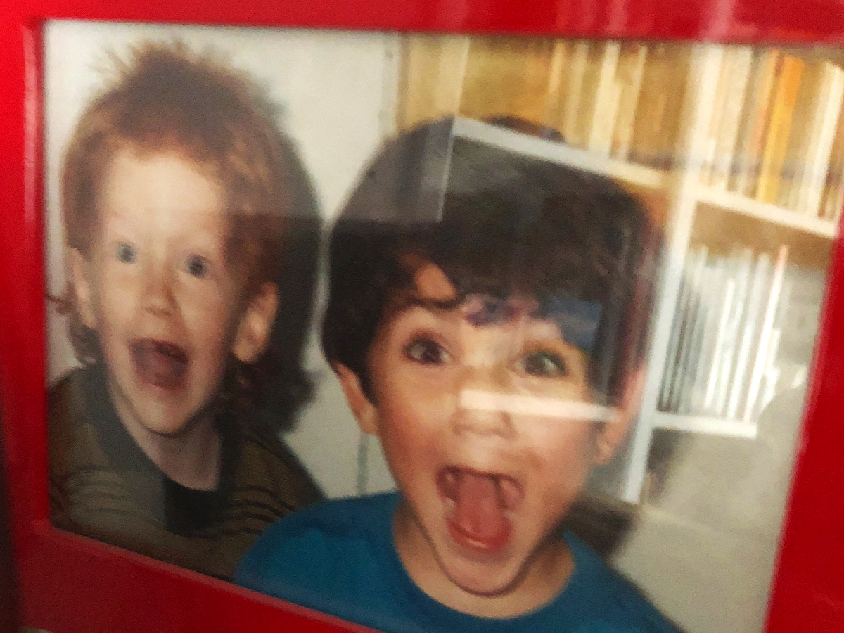 Dave and I as little kids