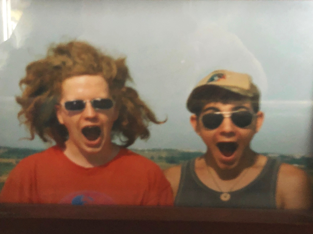 Dave and I as bigger kids