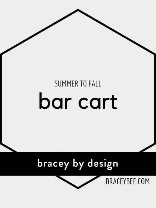 summer to fall bar cart transition