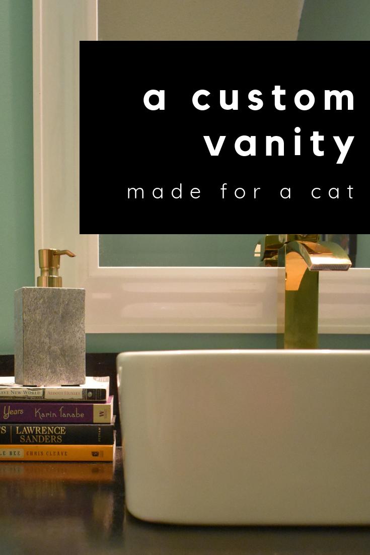 custom vanity made for a cat