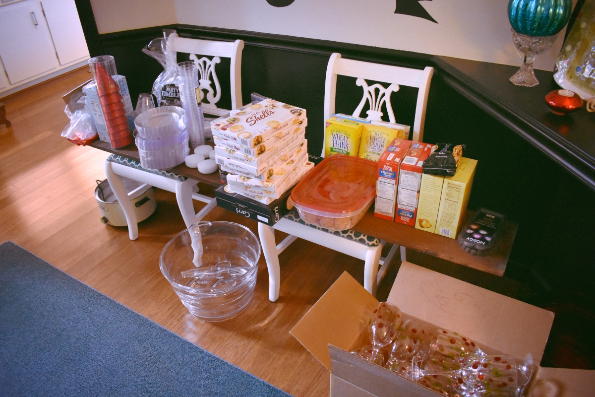 STORE PARTY SUPPLIES IN A CENTRAL LOCATION - This way, there's no mad dash to find something and if someone is helping, they know exactly where to look. Plus it keeps party stuff out of your pantry where it might get eaten.