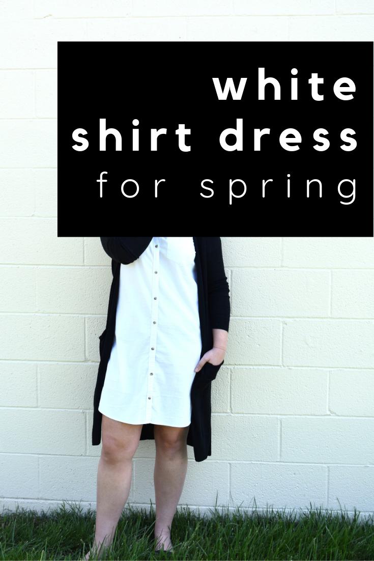 white shirt dress for spring