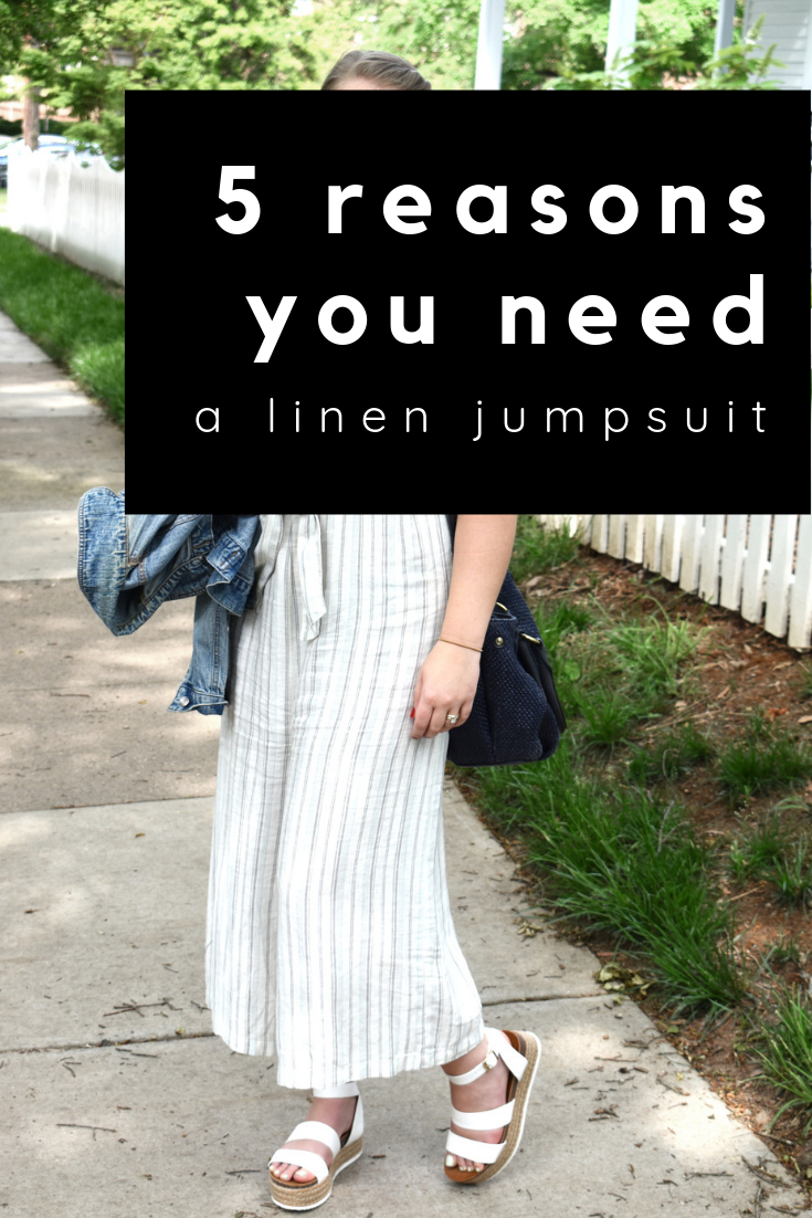 5 reasons you need a linen jumpsuit