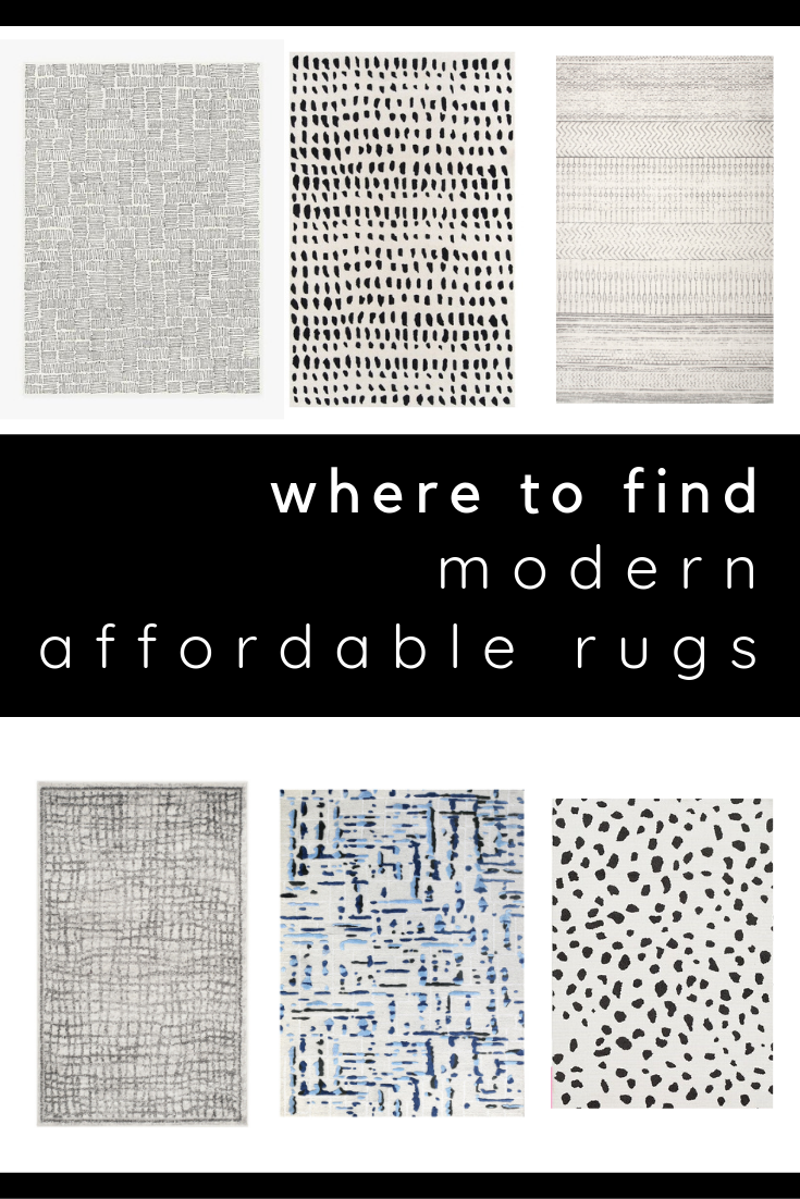 where to find modern, affordable rugs