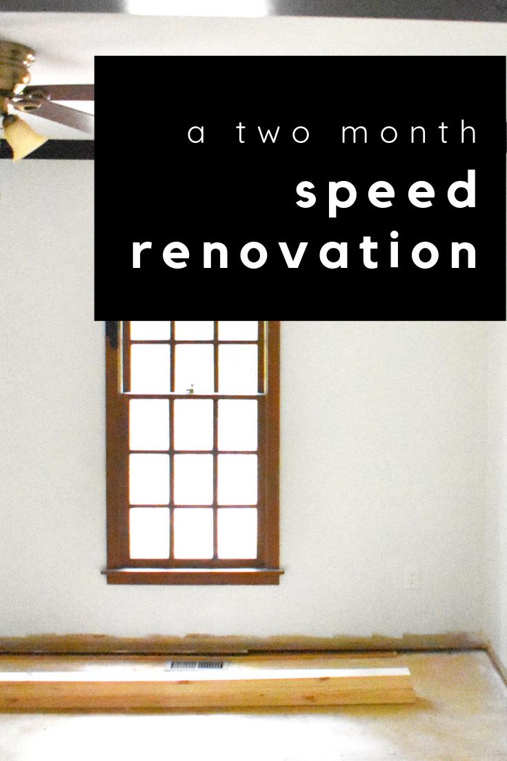 speed renovation