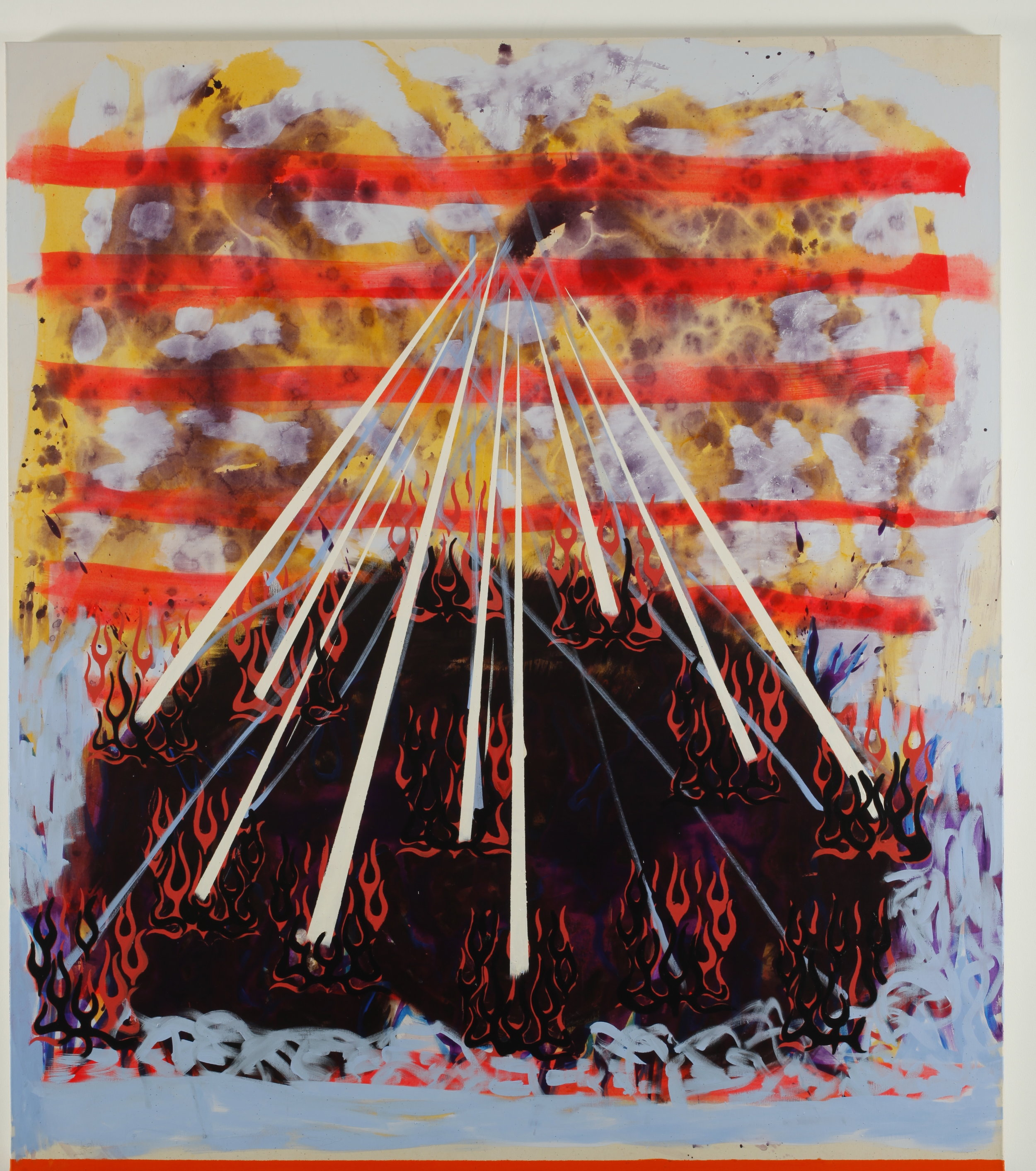Flying tent, portable home – 160x140cm – acrylic on canvas – 2012