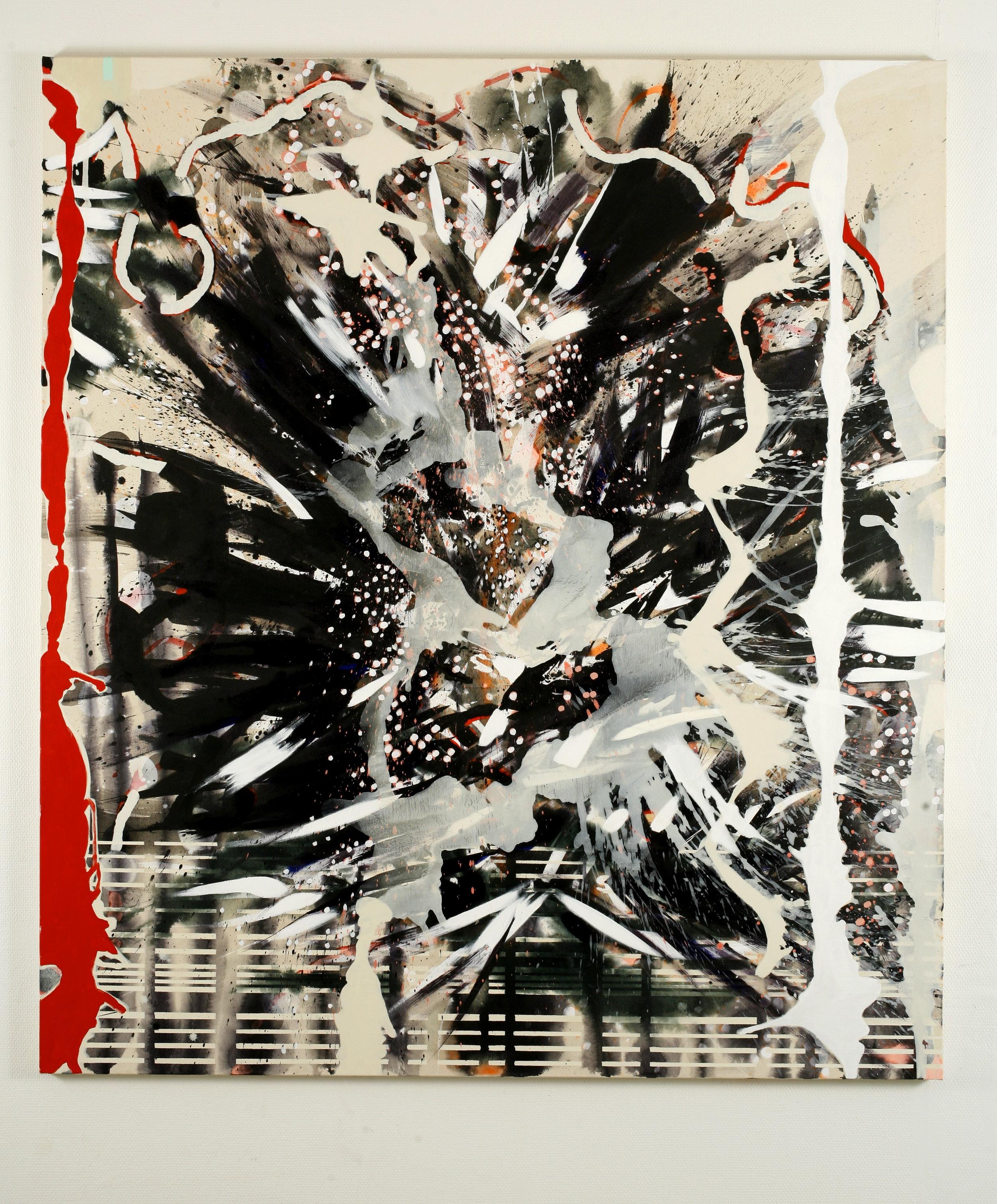 Temperamental meditation 4 – 180x160cm – acrylic on canvas  - 2007