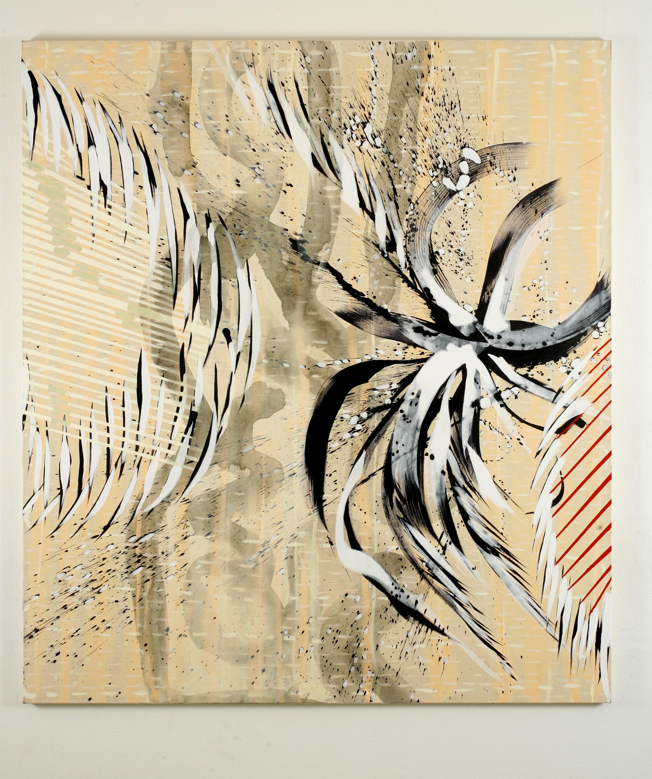Temperamental meditation 1 – 180x160cm – acrylic on canvas – 2007