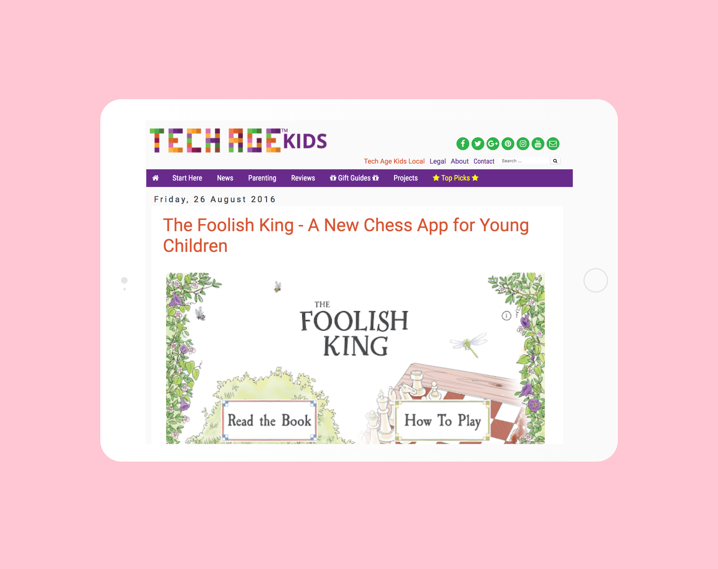 The Foolish King featured on Tech Age Kids