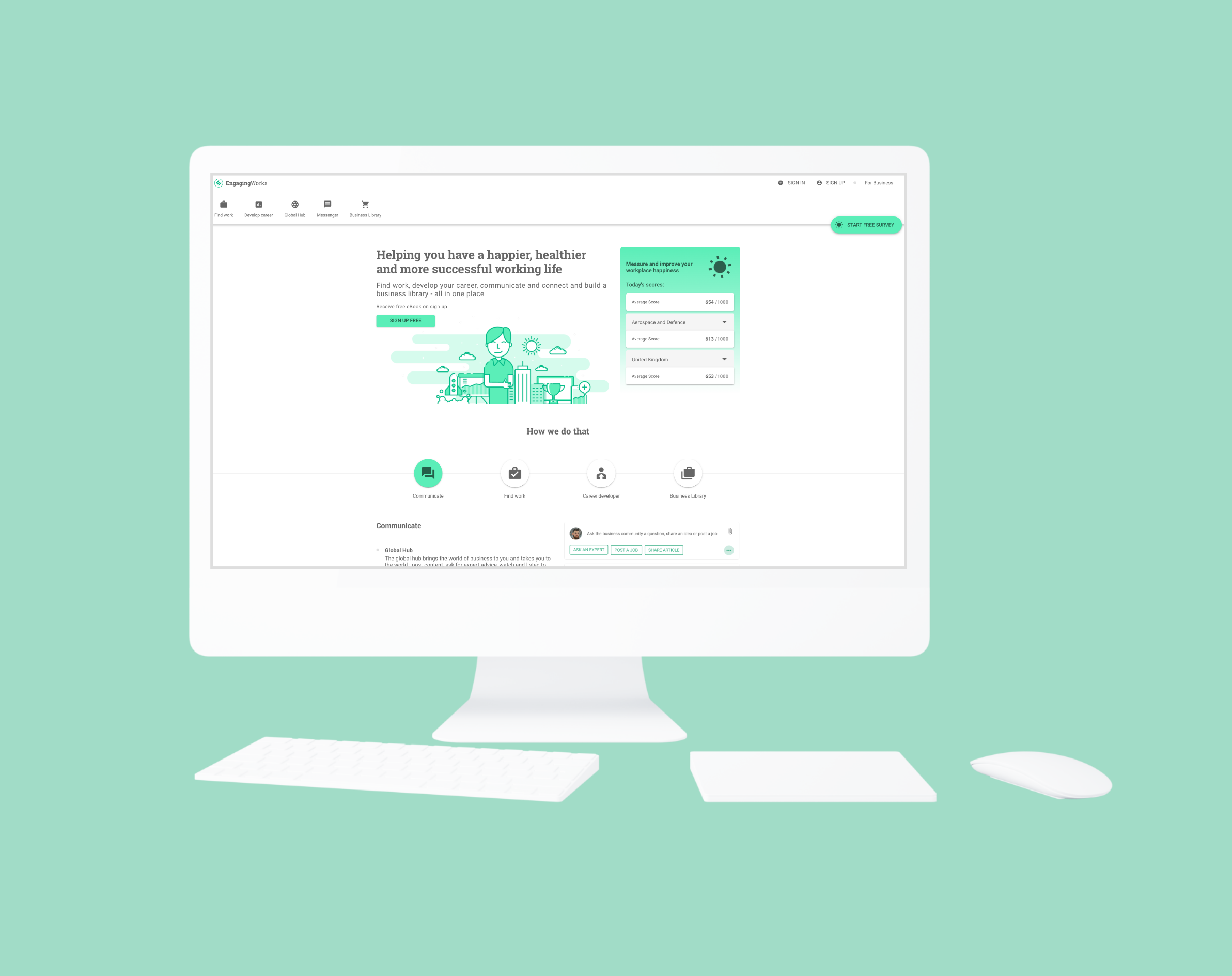 Engaging Works website