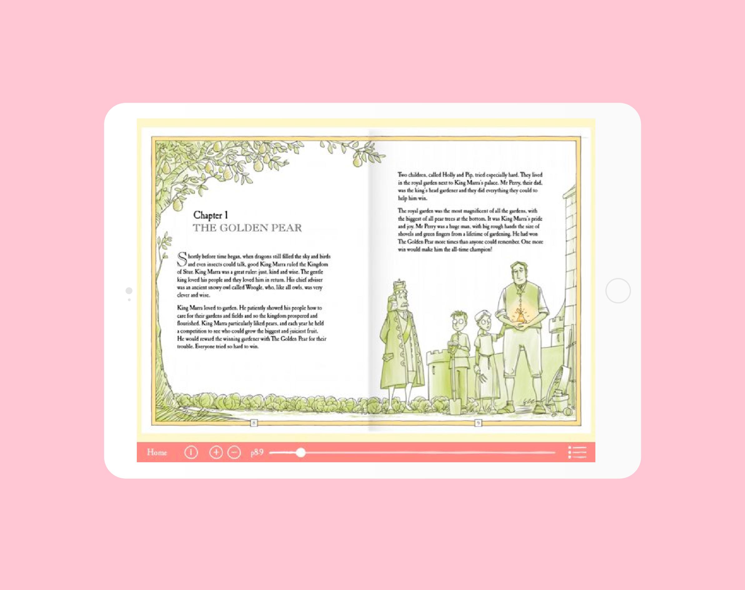 The Foolish King app on iPad